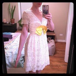 Vintage 60's White Lace Dress Sz Sm/2